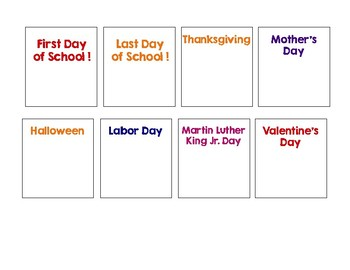 Occasional and Holiday Calendar Cards