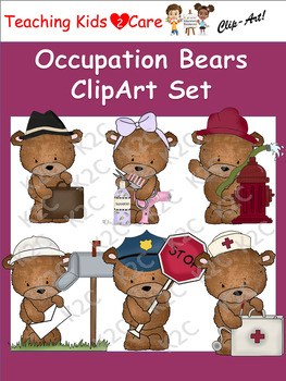 Occupation Bears ClipArt Set