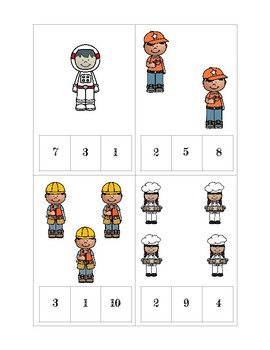 Occupation Clip and Count Cards 1-10