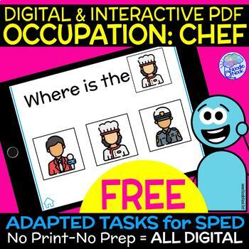 Occupation- FREE DIGITAL Interactive PDF for Community Helpers in Special Ed