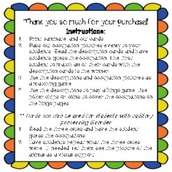 Occupation Inferencing cards