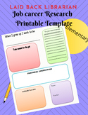 Occupation Job Career research lesson with graphic organizer