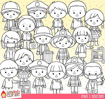 Occupation Kids Clip Art - Set 1