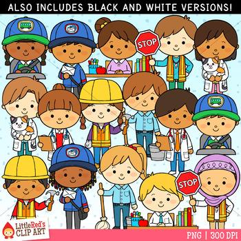 Occupation Kids Clip Art - Set 2