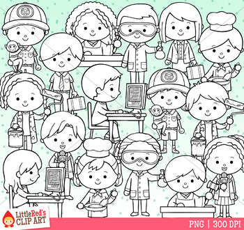Occupation Kids Clip Art - Set 3