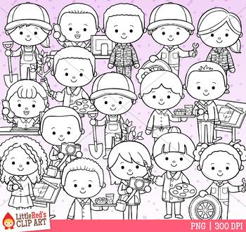 Occupation Kids Clip Art - Set 4