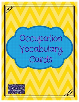 Occupation Vocabulary Cards