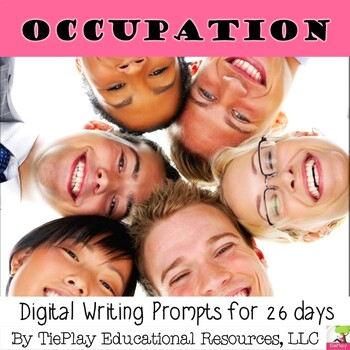 Occupation and Academic Words Writing Prompts for ELA
