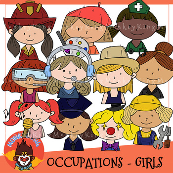 Occupation clip art / Girls