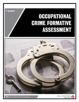 Occupational Crime Formative Assessment