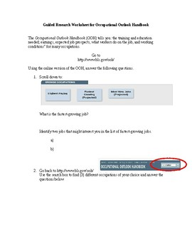 Occupational Outlook Handbook Research Guide