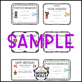 Occupational, Physical, and Speech Therapy Completion Certificate Bundle