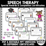 Occupational, Physical, and Speech Therapy Completion Cert