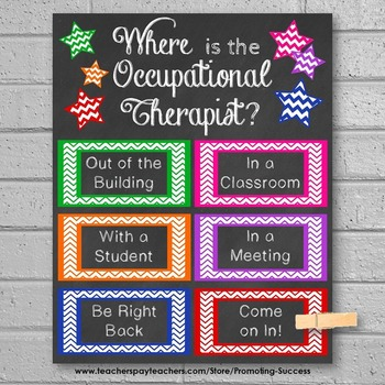 Occupational Therapy Office Door Sign, Back to School Decor