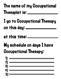 Occupational Therapy Appointment Schedule for Kids