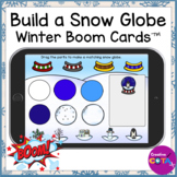 Occupational Therapy Build a Winter Snow Globe Digital Boom Cards