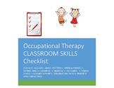 OT  Checklist Preschool to Kinder: ADLS, MOTOR AND SENSORY