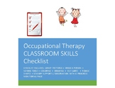 Occupational Therapy Checklist Prek-K/Special needs