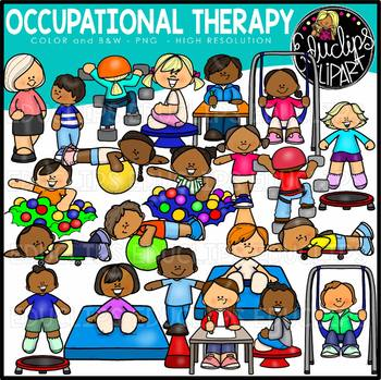 Occupational Therapy Clip Art {Educlips Clipart}