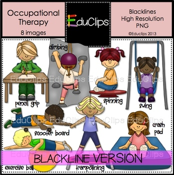Occupational Therapy Clip Art BLACKLINES