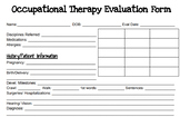Occupational Therapy Evaluation Form