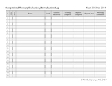 Occupational Therapy Evaluation/Reevaluation Log