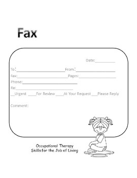 Occupational Therapy Fax Cover Page