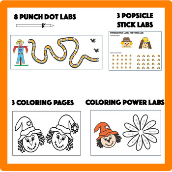 Occupational Therapy Fine Motor Labs:  Scarecrow Mini-Labs Variety Kit
