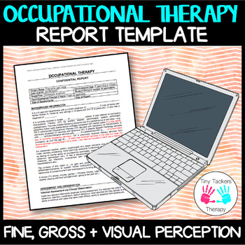 Occupational Therapy: Fine + gross motor + visual perception editable report
