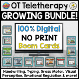 Teletherapy GROWING BUNDLE for Occupational Therapy (No-print BOOM Cards™)