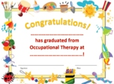Occupational Therapy Graduation Certificate