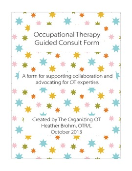 Occupational Therapy Guided Consultation Form