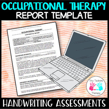 Occupational Therapy: Handwriting editable report template