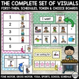 OCCUPATIONAL THERAPY Set: First Then, Schedules, Token Boards, Activity Cards