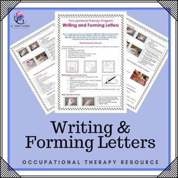 Occupational Therapy Program - Writing and Forming letters