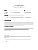 Occupational Therapy School System Evaluation Template