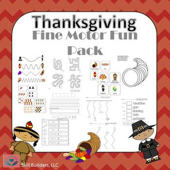 Occupational Therapy- Thanksgiving Fine Motor Fun Pack