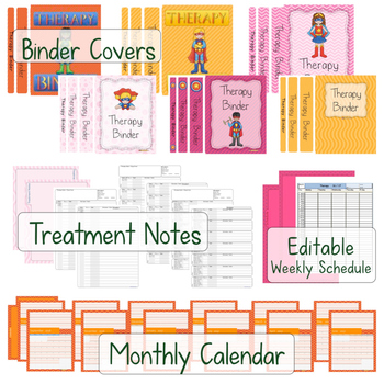 Occupational Therapy or Physical Therapy: DEPARTMENT BINDER  BUNDLE