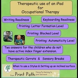 Occupational Therapy: Therapeutic use of an iPad   by Print Path