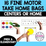 Fine motor take home bags Kindergarten prek Occupational t
