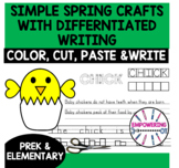 SPRING Crafts EASY Color Cut Paste, DIFFERENTIATED writing
