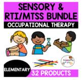 Occupational therapy sensory processing & RTI/MTSS bundle! 32 products OT SPED