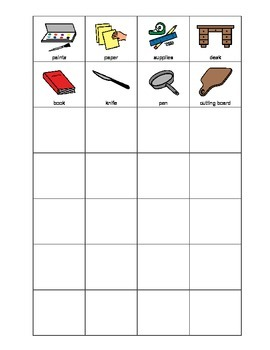 Occupational tools SORTING activity, SPEECH THERAPY, Autism, Vocabulary, EET