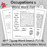 Occupations 1 Word Work Fun