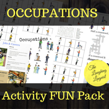 Occupations Activities Fun Pack For Esl Students Of All Ages Tpt