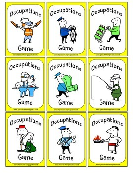 Occupations Card Game