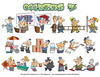 Occupations Cartoon Clipart BUNDLE