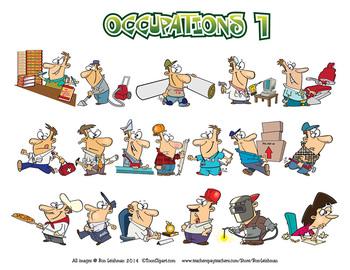 Occupations Cartoon Clipart Vol. 1
