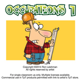 Occupations Cartoon Clipart Volume 1 | Occupations Clipart for ALL grades