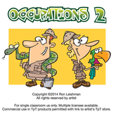 Occupations Cartoon Clipart Volume 2 | Occupations Clipart for ALL grades